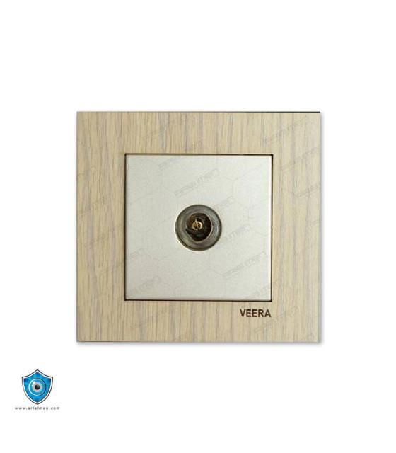 کلید و پریز ویرا مدل کریستال چوب افرا
