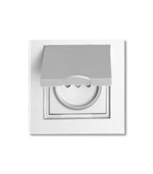 کلید و پریز ویرا الکتریک سفید بارانی