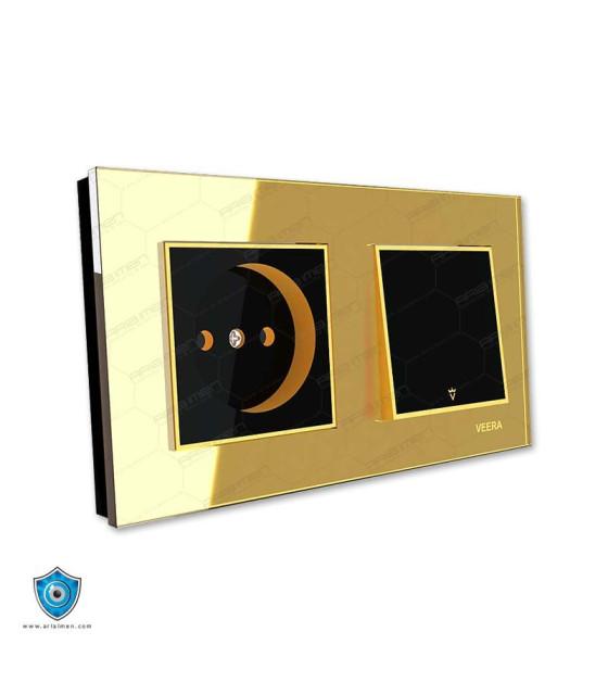 کلید و پریز ویرا مدل امگا طلایی