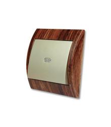 کلید و پریز خیام الکتریک مدل آریانا طرح چوب