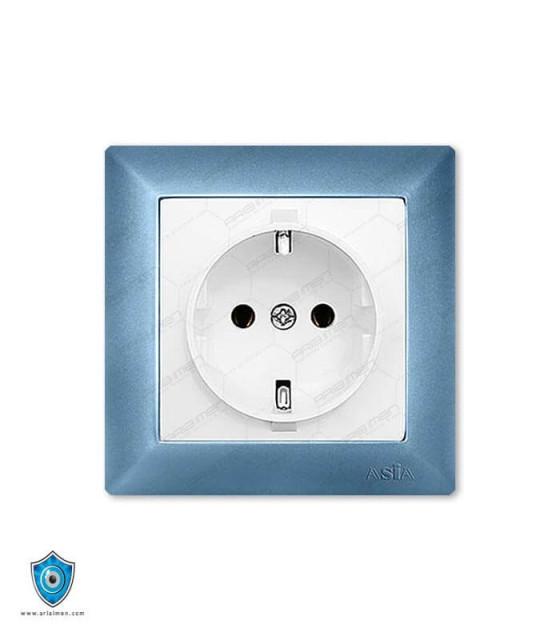 کلید و پریز آسیا الکتریک مدل پارسه آبی