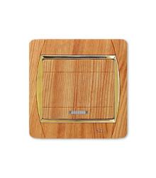 کلید و پریز آسیا الکتریک مدل سیلور طرح چوب