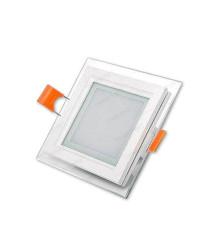 پنل مربع گرد بُر 8 دور شیشه زانیس 6 وات