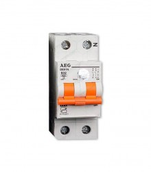 کلید مینیاتوری دو پل 6 آمپر AEG